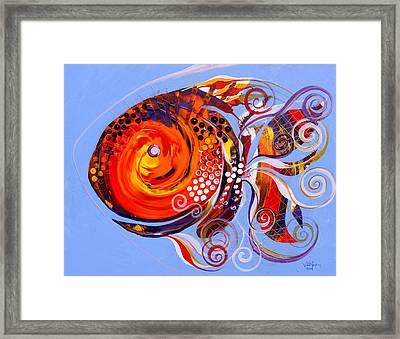 Happy Rainbow Fish Framed Print