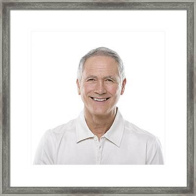 Happy Senior Man Framed Print