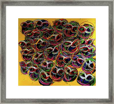 Happy Smiling Faces Framed Print by Karen Elzinga