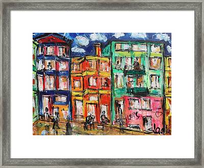 Happy Street Framed Print by Sladjana Lazarevic