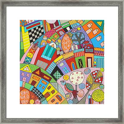 Happy Town Framed Print