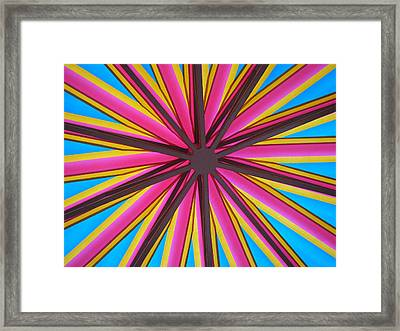 Happy Umbrella Framed Print