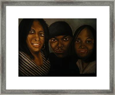 Happy Framed Print by Walter Harris