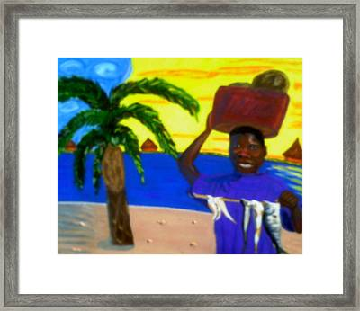Happy With His Catch Framed Print by Annette Stovall