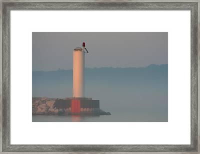 Harbor Beacon Framed Print by Odd Jeppesen
