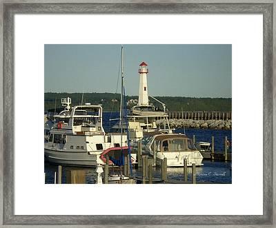 Harbor Collection - St. Ignace Mi Framed Print