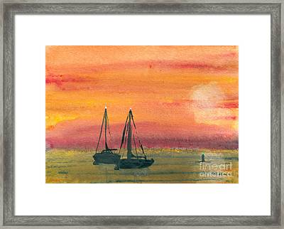 Harbor Colors Framed Print by R Kyllo