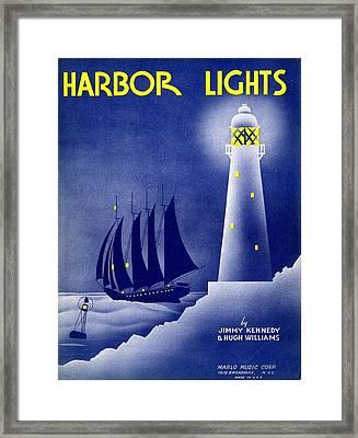 Harbor Lights Framed Print by Mel Thompson