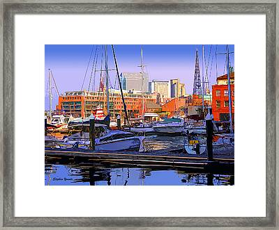 Harbor Morn Framed Print by Stephen Younts