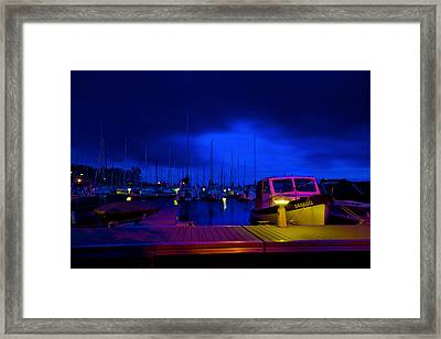 Harbor Nights Framed Print by Andre Faubert