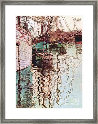 Harbor Of Trieste Framed Print by Pg Reproductions