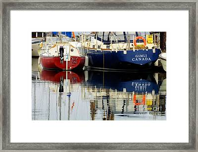 Harbor Reflections  Framed Print by Bob Christopher