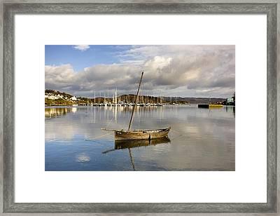 Harbour In Tarbert Scotland, Uk Framed Print
