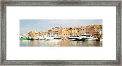 Harbour, St. Tropez, Cote D'azur, France Framed Print