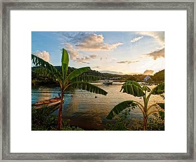 Harbour Sunset 2 Framed Print
