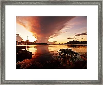 Harbour Sunset Framed Print