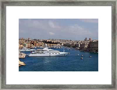 Harbour Valletta. Framed Print by Terence Davis