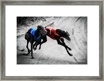 Hard And Rough Framed Print