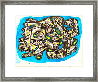 Geometric Stormcloud Framed Print by Al Goldfarb