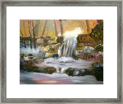 Hard Rock Falls Framed Print by Larry Hamilton