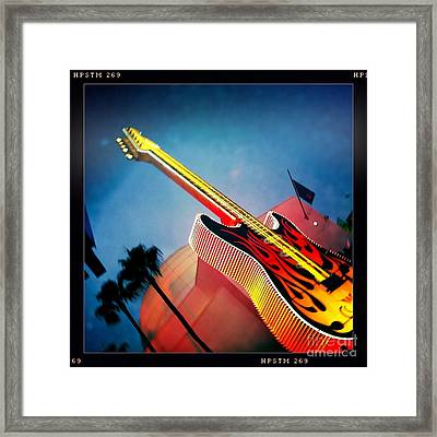 Framed Print featuring the photograph Hard Rock Guitar by Nina Prommer