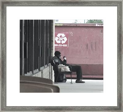 Hard Times 2012 Framed Print by Todd Sherlock