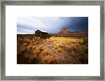 Hard Times Framed Print