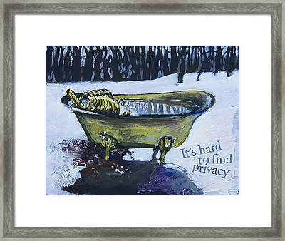 Hard To Find Privacy Framed Print