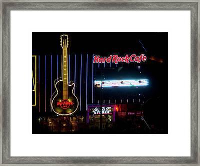 Hardrock Cafe - Las Vegas Framed Print by Brendan Reals