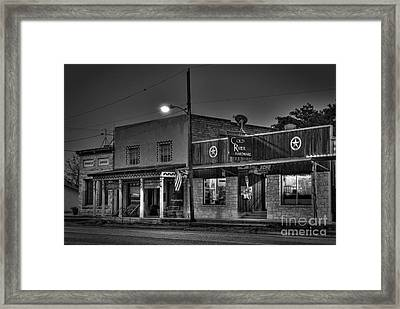 Hardware Store In Small Town Usa Framed Print by Andre Babiak