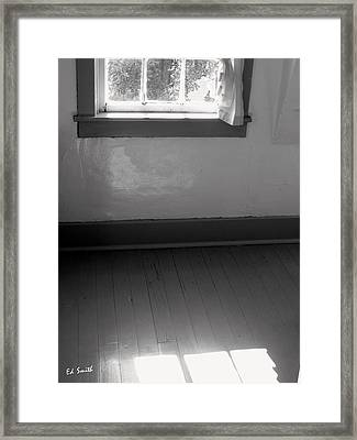 Hardwoods And Plaster Framed Print by Ed Smith