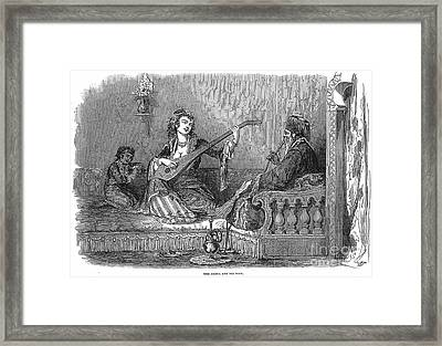 Harem: Pasha And His Wife Framed Print