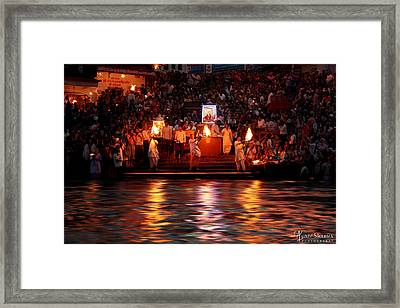 Haridwar Framed Print by Aunit Sharma
