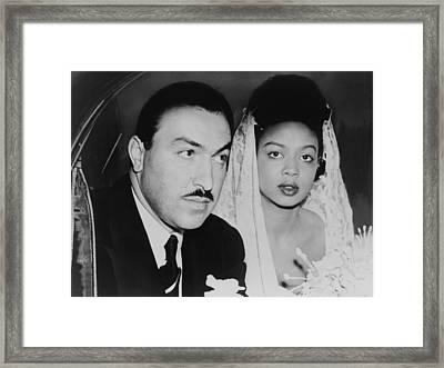 Harlem Congressman Marries Jazz Singer Framed Print