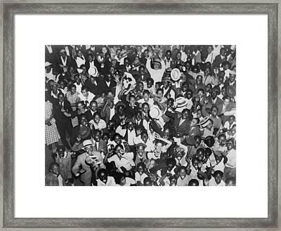 Harlem Crowd Celebrating African Framed Print by Everett