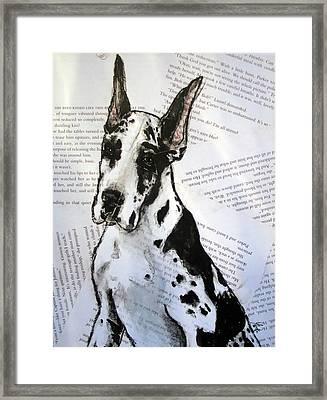 Harlequin Romance Puppy Framed Print