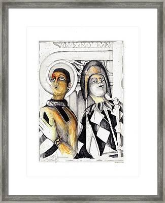 Harlequins Framed Print by Bob Salo