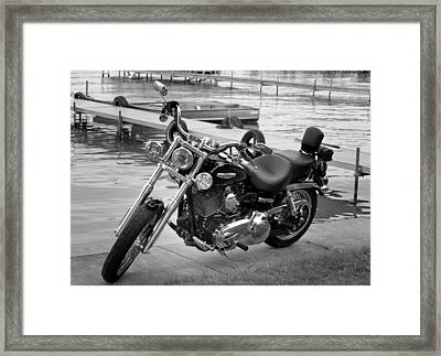 Harley Black And White Framed Print by Dean Bennett