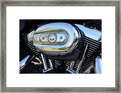 Harley Chrome Framed Print by Christean Ramage