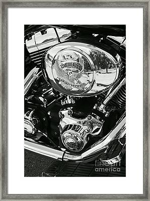 Harley Davidson Bike - Chrome Parts 02 Framed Print