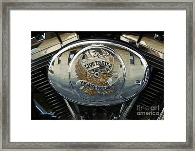 Harley Davidson Bike - Chrome Parts 44c Framed Print
