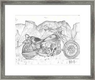 Harley Davidson Bike Framed Print by Anitha SivaSubramanian