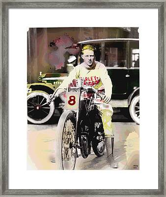 Framed Print featuring the mixed media Harley Davidson by Charles Shoup