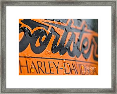 Harley Davidson Logo Framed Print by Stelios Kleanthous