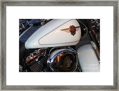 Harley-davidson Motorcycle . 7d12759 Framed Print by Wingsdomain Art and Photography