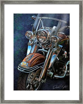 Harley Davidson Ultra Classic Framed Print by David Kyte