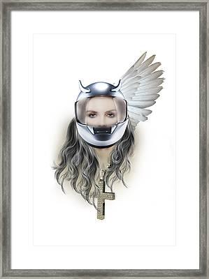 Harley Davidson Woman Framed Print