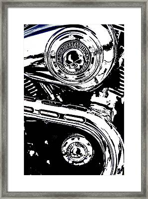 Framed Print featuring the photograph Harley Skulls by Randall  Cogle