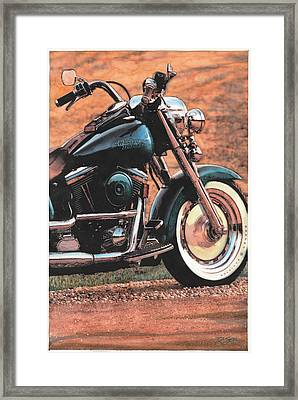 Harley Softtail Framed Print