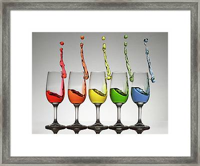 Harmonic Cheers Framed Print by William Lee